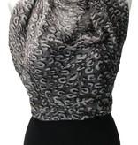 Banzaa Sjaal Panterprint van Viscose – Nette lichte Shawl maar zeer Groot 110x200cm – Omslagdoek Pantervlekken Grijs