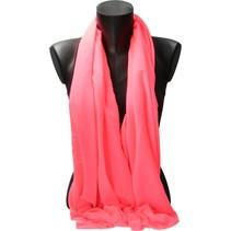 Ronde Shawl Groot 80x170cm – Oranje Roze