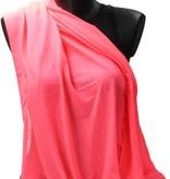 Banzaa BDO Loop Sjaal van Viscose – Ronde Shawl Groot 80x170cm – Oranje Roze