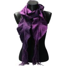 Sjaal gedraaide gehaakte Sjaal 20x200cm – Paars