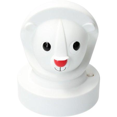 J.I.P Jip Dieren Lamp Leeuw – Nachtlampje voor Kinderen 15cm – Nachtverlichting Jongens en Meisjes – Wit