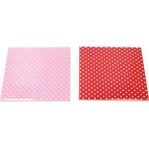 Onderzetter set van Keramiek – 2 stuks Rood, Roze