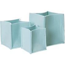 Opbergmand Mellow Vilt 3 Formaten Blauw