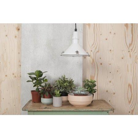 Present Time Present Time Saladeschaal Set 3 Stuks – Plantenbak voor plantjes – Serveerschaal Luxe Matte Finish – Porselein Slabak 21cm – Zalmroze