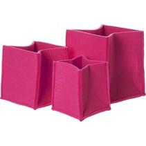 Opbergmand  Vilt 3 Formaten Raspberry Pink