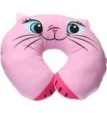 Van der Meulen Nekkussen voor Volwassenen en Kinderen – Reis – Autokussen – Roze Kat