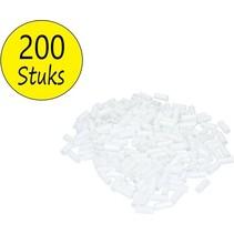 Schietpijpjes 200 Stuks 20mm voor de Schietkast Wit