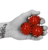 Banzaa Massagebal – Set van 3 Kleine Massage Balletjes – voor Ontspannen van Handen en Voeten 5 cm   Hoge Dichtheid Massagestekels   Triggerpoint   Stekels   Lacrosse Bal – Rood