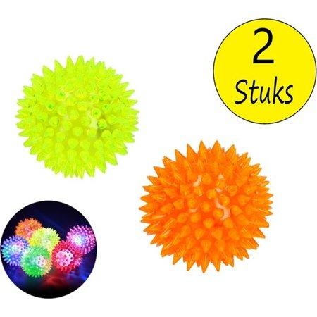 BDO BDO Stressbal Disco set van 2 – Massagebal met Disco Effect – Triggerpoint – Geel Oranje