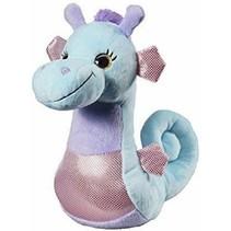 Pluche zeepaard blauw 25 cm