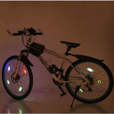 Heble Spaakverlichting Fiets met drie Verschillende Standen Rood 2 Stuks – 13x4x2cm | Lampjes voor Fietswiel