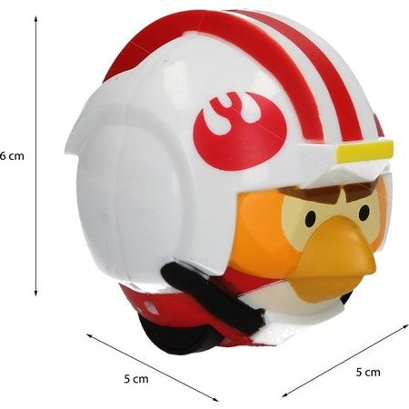 Angry Birds Start wars Angry Birds& Star Wars Power Battlers Luke Skywalker Bird – 6x5x5cm | Schietspeelgoed voor Kinderen | Zelfrijdende Poppetjes