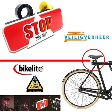 Bikelite Bikelite Extra Veilig Remlicht voor de Fiets + Gratis Montagemateriaal | Fietsverlichting Stop Signaal | Veilig Verkeer Nederland