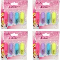 Disney Princess 16x Mini Markeerstiften 4 kleuren