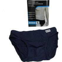Microvezel Slip Gevoerd voor Heren maat S Donkerblauw – 30x24cm | Onderbroek voor Mannen Katoen | Ondergoed