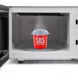 Banzaa S.O.S. Magnetron Cleaner Rood – 9x8cm | Voor het gemakkelijk Schoonmaken van de Magnetron | Magnetronreiniger