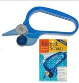 Reuser Re-medi Rolschaar voor Eenvoudig en Snel Recht Knippen – 14x5cm | Keukenschaar | Kantoorschaar | Remedi Schaar | Papiersnijder