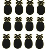 Banzaa Clip met Krijtbord van Hout 2 Blisters van 6 Stuks Ananas – 8x5x1cm   Kaarten Ophangen