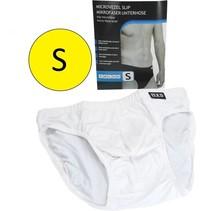 Microvezel Slip Gevoerd voor Heren Maat S Wit
