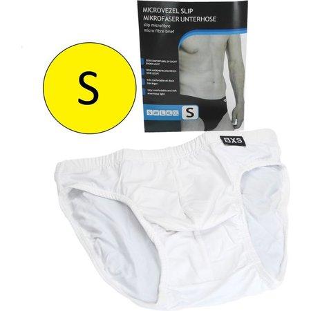 Banzaa Microvezel Slip Gevoerd voor Heren Maat S Wit – 30x24cm | Onderbroek voor Mannen Katoen | Ondergoed