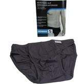 Banzaa Microvezel Slip Gevoerd voor Heren maat S Grijs – 30x24cm | Onderbroek voor Mannen Katoen | Ondergoed