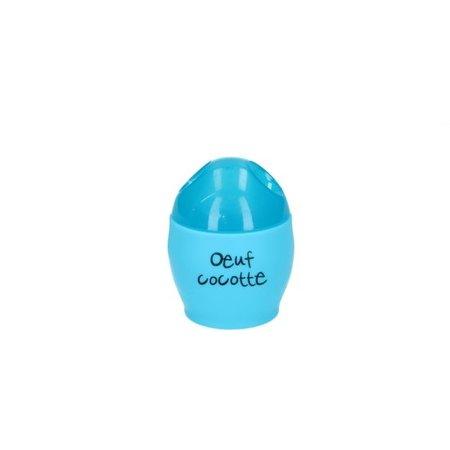 Cruisy Cuisy Eierkoker voor in de Magnetron 9cm – Eenvoudig Eieren koken – Magnetron Bestendige Koker voor Eieren – Blauw
