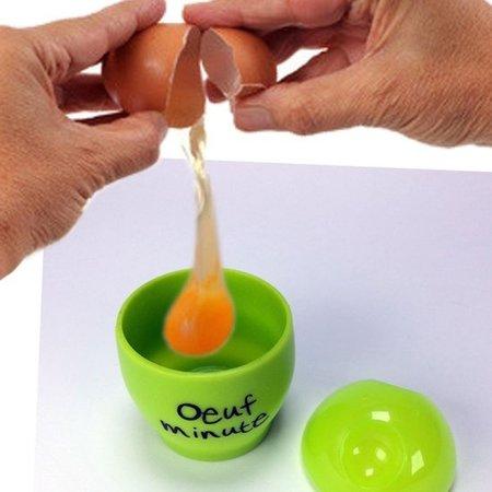 Cuisy Gele Eierkoker voor in de Magnetron – 9cm | Eenvoudig Eieren Koken | Keuken Accessoires | Magnetron Bestendige Koker voor Eieren