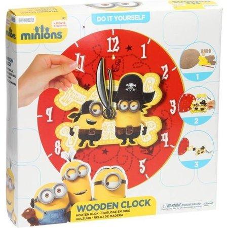 Minions Despicable Me Minions Maak je eigen Houten Klok Knutsel set voor Kinderen – 30x30x5cm | Wandklok Maken | Knutselen voor Kinderen vanaf 4 Jaar