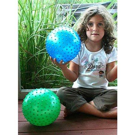 Banzaa Summerplay Stekelige Bal – Opblaasbaar van Zacht 15cm tot Hard 19cm | Speelgoed Bal | Lacrosse bal | Kinder Bal | Massage Bal | Triggerpoint – Geel