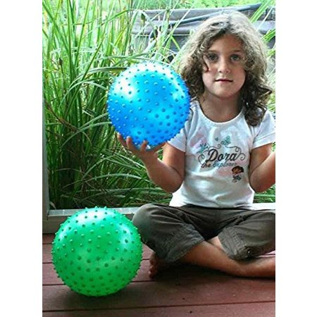 Banzaa Educatieve Stekelige Bal voor Baby en Kinderen - 19cm   Educatief Speelgoed voor Verbeterde Motoriek en Sensorische Stimulatie   Motorische Vaardigheden   Massagebal – Geel