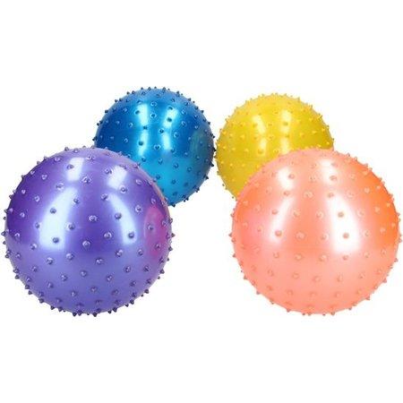 Banzaa Massage Bal groot – Ontspannen Handen en Voeten  – 19cm | Hoge Dichtheid Massagestekels | Stekelig Plastic Massage Apparaat voor Ontspanning | Massagebal met Stekels | Lacrosse Bal – Blauw