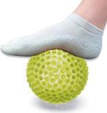 Banzaa Massage Bal groot – Ontspannen Handen en Voeten  – 19cm   Hoge Dichtheid Massagestekels   Stekelig Plastic Massage Apparaat voor Ontspanning   Massagebal met Stekels   Lacrosse Bal – Geel