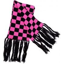 Rock Daddy Zwart Roze Geblokte Sjaal 140x19cm
