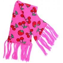 Rock Daddy Roze Sjaal met Aardbeien en Kersen 140x19cm