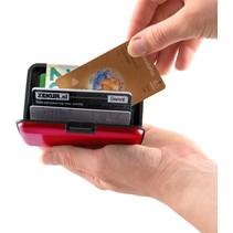 RFID Anti-Skim Aluminium Creditcardhouder Rood