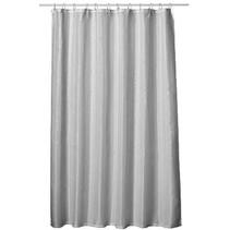 Douchegordijn van Textiel + Ringen 180x200cm Zilver Grijs
