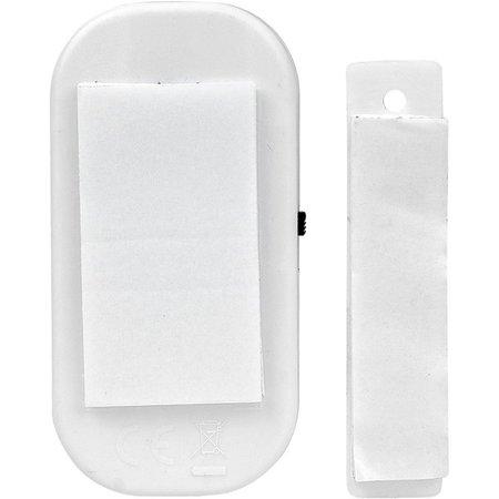 BDO 4x Draadloze Mini-Alarmen Set met Bewegingssensor - 4 Stuks  - 95 dB - Inclusief Batterijen en Montageset   Pakket van 4 Magnetische Deur en Raam Sensor Alarmsystemen   Woningbeveiliging   Waarschuwings Alarm Tegen Inbrekers en Indringers