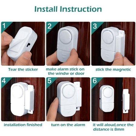 Banzaa Draadloos Mini-Alarm met Bewegingssensor - 1 Stuks - 95 dB - Inclusief Batterijen en Montageset | Magnetisch Deur en Raam Sensor Alarmsysteem | Woningbeveiliging | Waarschuwings Alarm Tegen Inbrekers en Indringers