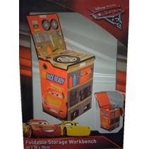 Cars 3 Opvouwbare werkbank 57x40x23cm Speelgoedkist
