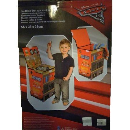 Disney Cars Cars 3 Opvouwbare werkbank – 57x40x23cm | Speelgoedkist voor Kinderen | Kist voor het Opruimen van de Kamer