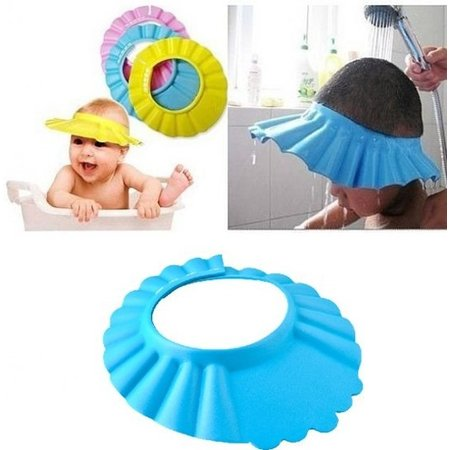BDO Blauwe Deluxe Douchekap voor Kleine Kinderen van 0-6 Jaar met Oor beschermers – 27cm | Shower Cap voor Baby's en Peuters | Douchekapje voor Kindjes