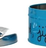 Banzaa Luxe Asbak met Draaiknop Deksel voor Binnen Blauw – 11x10x5cm | Voor het Roken van Sigaretten
