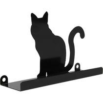 Wandplankje met met Muurstickers zwart katje