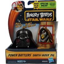 Angry Birds& Star Wars Power Battlers Darth Vader Pig – 6x5x5cm | Schietspeelgoed voor Kinderen | Zelfrijdende Poppetjes