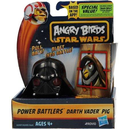 Angry Birds Start wars Angry Birds& Star Wars Power Battlers Darth Vader Pig – 6x5x5cm | Schietspeelgoed voor Kinderen | Zelfrijdende Poppetjes
