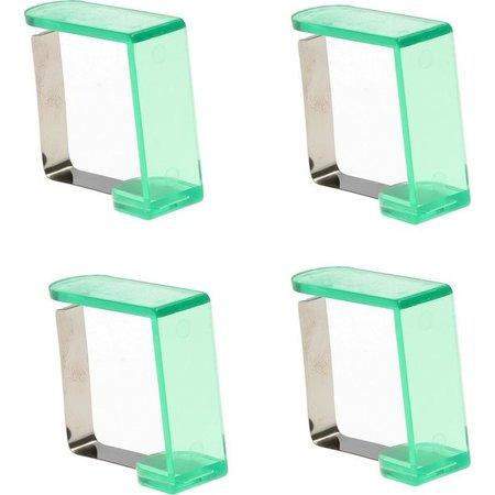 Banzaa Tafelkleedklemmen 4 Stuks Groen – 5x4x2cm | Tafelkleedgewichten | Klemmen voor het Tafellaken