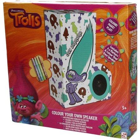 Trolls Trolls Kleur je eigen Speaker Set – 27x28x5cm   Maak je eigen Kleurbox Set