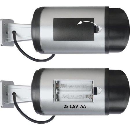 Banzaa Dummy Security System Beveiligingscamera – 17x7cm | Dummy Camera voor de Voordeur | Beschermingscamera | Videocamera voor Bescherming van uw Woning