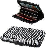 Banzaa Premium Lichtgewicht Aluwallet Portemonnee Pashouder Zebraprint – 11cm   Pashouder   Pasjes Bewaren   Pinpassen en identiteitskaart   Creditcard
