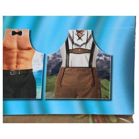 Banzaa Sexy Apron Schort voor Mannen met Man in Lederhosen – 100x57x1cm | Kookschort voor Koken en Barbecueën | Grappige Keuken accessoires